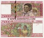 Madagascar 25000 Francs (1998) (B82106729) UNC