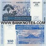 Madagascar 100 Ariary 2004 (A40966xxP) UNC