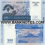 Madagascar 100 Ariary 2004 UNC