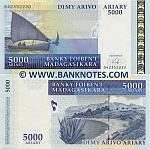 Madagascar 5000 Ariary (2008) (B4235xxxD) UNC