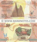 Madagascar 500 Ariary (2017) (E408556xx) UNC