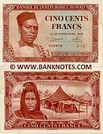 Mali 500 Francs 22.9.1960 (F52/022899) RARE AU-UNC