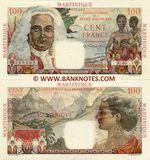 Martinique 100 Francs (1947-49) (X.46/114616482) AU