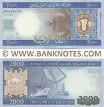 Mauritania 2000 Ouguiya 28.11.2011 (AB8459430A) UNC