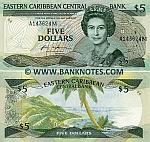 Montserrat 5 Dollars (1986-88) UNC