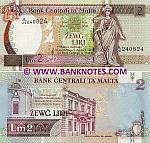 Malta 2 Liri (1994) (A/26 2408xx) UNC