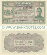 Mauritius 1 Rupee (1940) (D118,576) AU
