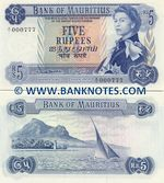 Mauritius 5 Rupees (1967) (A/13 682315) UNC