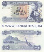 Mauritius 5 Rupees (1973) (A/40 135669) UNC