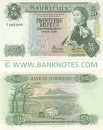 Mauritius 25 Rupees (1973) (A/11 285098) UNC