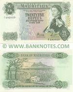 Mauritius 25 Rupees (1973) (Replacement Z/1 192023) AU-UNC