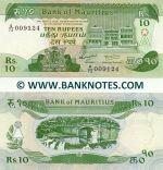 Mauritius 10 Rupees (1985) (A/72 009xxx) UNC