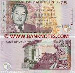 Mauritius 25 Rupees 2006 (BN1421xx) UNC