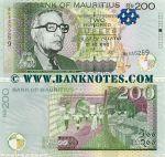 Mauritius 200 Rupees 2010 (BK53526x) UNC