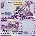 Malawi 20 Kwacha 1.1.2012 (AB87275xx) UNC