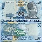 Malawi 50 Kwacha 1.1.2012 (AB57733xx) UNC