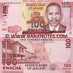 Malawi 100 Kwacha 1.1.2012 (AA16209xx) UNC