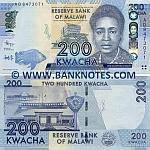 Malawi 200 Kwacha 1.1.2012 (AD8473xxx) UNC