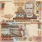 Malawi 500 Kwacha 1.1.2012 (AC74232xx) UNC