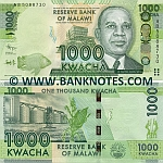 Malawi 1000 Kwacha 1.1.2012 (AB508873x) UNC