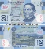 Mexico 20 Pesos 19.6.2006 (Serie A) polymer UNC