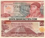Mexico 20 Pesos 1977 (DM/M76050xx) UNC