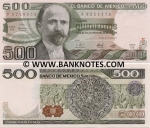 Mexico 500 Pesos 1982 (CG/F6256xxx) UNC