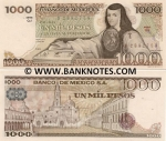 Mexico 1000 Pesos 3.9.1981 (SR/GL188888 = Good Luck) UNC