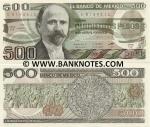 Mexico 500 Pesos 1984 (ED/F94363xx) UNC