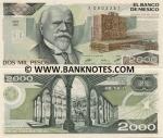 Mexico 2000 Pesos 1987 (BF/Q3942081) UNC