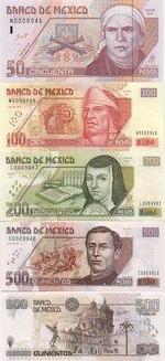 Mexico Set of 50, 100, 200 & 500 Pesos 2000 (N/W/L/S 0009982) AU-UNC