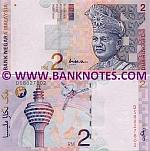 Malaysia 2 Ringgit (1996) (AQ28866xx) UNC