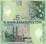 Malaysia 5 Ringgit (2004) (CP0904xxx) UNC