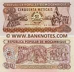 Mozambique 50 Meticais 16.6.1986 (AK13155xx) UNC