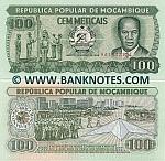 Mozambique 100 Meticais 16.6.1989 (AA15323xx) UNC