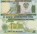 Mozambique 20000 Meticais 16.6.1999 (AA67968xx) UNC
