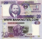 Mozambique 20 Meticais 2006 (AA93663xx) UNC