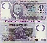 Mozambique 20 Meticais 16.6.2011 (AA031030xx) UNC
