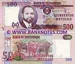 Mozambique 500 Meticais 16.6.2011 UNC