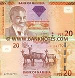 Namibia 20 Dollars 2011 (Prefix H) UNC