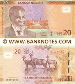 Namibia 20 Dollars 2015 (D909000xx) UNC