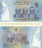 Namibia 30 Dollars 2020 (A44110xx) UNC