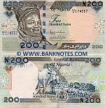 Nigeria 200 Naira 2010 (AD/8 174xxx) UNC