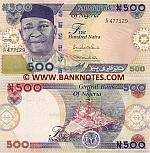 Nigeria 500 Naira 2010 (F/27 4771xx) UNC