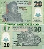 Nigeria 20 Naira 2009 (plastic) (TY9205xx) UNC