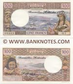 New Hebrides 100 Francs (1977) (01366489/O.1) UNC