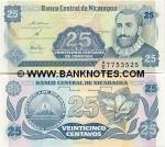 Nicaragua 25 Centavos (1991) (A/D 83343xx) UNC