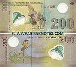 Nicaragua 200 Cordobas 2007 (polymer) (A/1 08880928) UNC