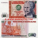 Peru 50 Intis 26.6.1987 (A77639xxQ) UNC