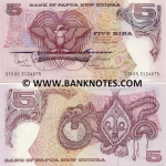 Papua New Guinea 5 Kina (1992) (HCG 6819xx) UNC
